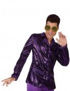 70er Jahre Disco-Herrenjacke mit Glitzer lila