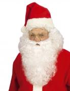 Weihnachtsmann-Bart und Perücke Weihnachtsmannkostüm-Accessoires weiss