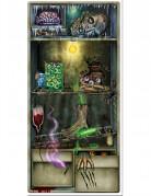 Schauriges Kühlschrank Poster Halloween Party-Deko bunt 76x152cm