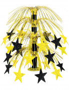Tischdeko Silvester mit Sternen schwarz-gold