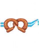 Oktoberfest Party-Brille Brezel blau-weiss-braun