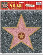 Wanddeko Walk of Fame Stern zum Beschriften bunt 30x38cm