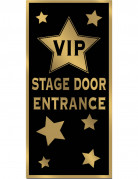VIP Eingang Türdeko schwarz-gold 76x150cm
