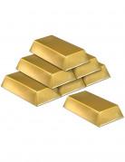 Deko Goldbarren 6 Stück gold 18x8cm