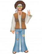 Party Deko Figur Hippie bunt 94cm