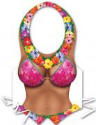Sexy Schürze Hawaii Frau für Damen bunt
