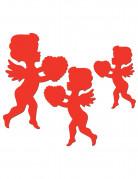 Liebesengel Amor Wanddeko Valentinstag-Deko 6 Stück rot