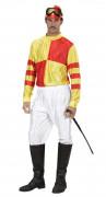 Jockey-Herrenkostüm rot-gelb