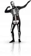 Skelett Second-Skin-Suit Halloween-Kostüm schwarz-weiss
