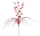 Deko-Stäbchen Herzen Wasserfall rot