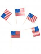 USA Fahnen Zahnstocher-Set 30 Stück blau-weiss-rot