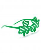 Lustige Kleeblatt-Brille St. Patrick