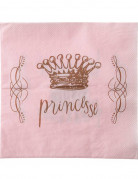 Prinzessin Servietten-Set 20 Stück rosa