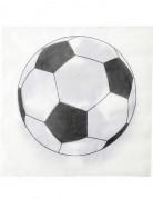 Fussball-Papierservietten Party 20 Stück schwarz-weiss
