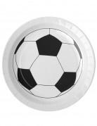 Party Fussball-Pappteller 10 Stück schwarz-weiss 23cm