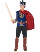 Mittelalterlicher König Kinderkostüm rot-blau