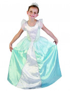 Prinzessinnen Kinder-Kostüm blau-weiss