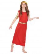 Römerin Kinder-Kostüm rot-gold