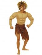 Dschungel Kostüm Ureinwohner beige-braun