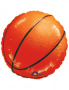 Basketball-Ballon Aluminium-Luftballon orange-schwarz 45cm