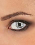 Kontaktlinsen Spinnennetz weiss-schwarz