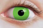 Gruselige Vampir-Kontaktlinsen grün