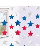 Dekohänger USA Sterne 6 Stück blau-weiss-rot 2,10m
