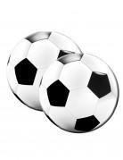 Fussball Servietten Party-Deko 20 Stück schwarz-weiss 33cm