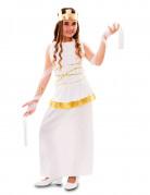 Griechische Göttin Kinderkostüm weiss-gold