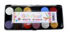 Karneval Farb-Palette 12 Schminkfarben bunt