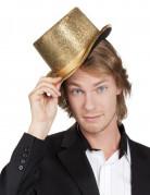 Glänzender Zylinder Kostüm-Accessoire gold