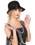 20er-Jahre Charleston-Hut für Damen schwarz