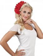 Blumen-Haarschmuck Haarklammer rot
