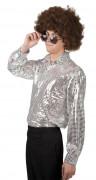 Silber Disco-Shirt Herren