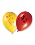 Micky Maus Luftballons mit Micky und Minnie Maus Disney-Lizenzartikel 8 Stück rot-gelb 30cm