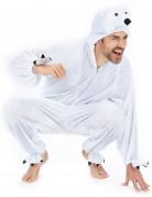 Eisbär Unisex-Kostüm Onesie weiss