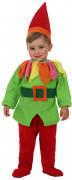 Süsser Kobold Babykostüm grün-bunt