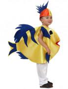 Süsser Fisch Kinderkostüm Tierkostüm blau-gelb