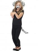Dalmatiner Kostüm-Set für Kinder weiss-schwarz
