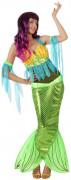 Meerjungfrau-Kostüm Unterwasserwelt grün-bunt