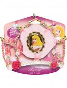 Dornröschen-Tiara Prinzessinnen-Krönchen für Mädchen Disney-Lizenzartikel rosa-gold