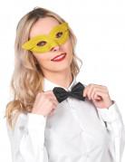 Edle venezianische Augenmaske gelb