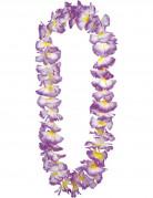 Blütenhalskette Hawaii Halskette lila
