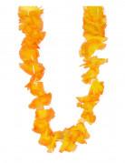 Hawaii-Kette Kostüm-Accessoire orange-gelb