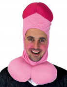 Witzige Erwachsenen Schwanz-Mütze Kopfbedeckung rosa-pink