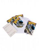 Batman-Einladungen mit Umschlägen Superheldenparty-Einladungen DC-Lizenzartikel 6 Stück bunt 10x16cm