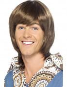 70er-Jahre-Perücke Pop-Herrenperücke braun