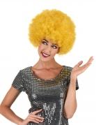 Afro-Perücke Karneval gelb