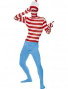 Wo ist Walter Second Skin Ganzkörperanzug Lizenzware rot-weiss-blau
