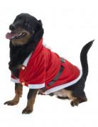 Weihnachtsmann-Hundekostüm Weihnachtskostüm für Hunde rot-weiss-schwarz